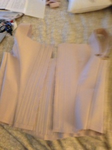 Back of corset. boning is done. On to the binding and eyelets